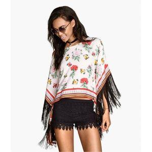 H&M Coachella poncho top fringe 8